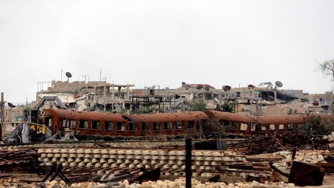 صورة مخيم اليرموك لم يعد موجود وأوضاع الغوطة رهيبة