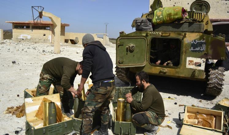 صورة الحرب النفسية..الأسد مستعدون لحرب الجنوب