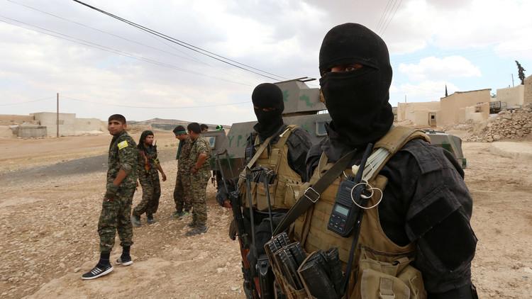 """صورة اقتتال بين الأكراد والعرب داخل """"قسد"""""""