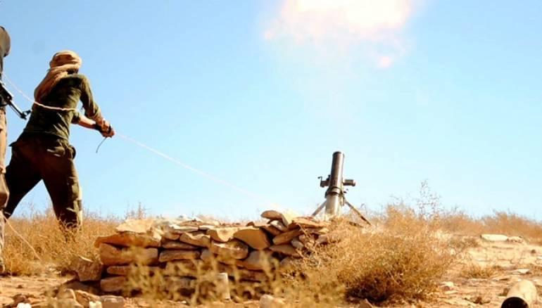 صورة قتلى للنظام السوري على يد تنظيم الدولة في البادية