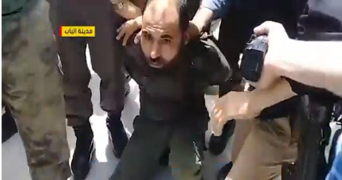 """صورة """"اليابا"""" يتوعد كل من تظاهر ضده في """"الباب"""" بحلب"""