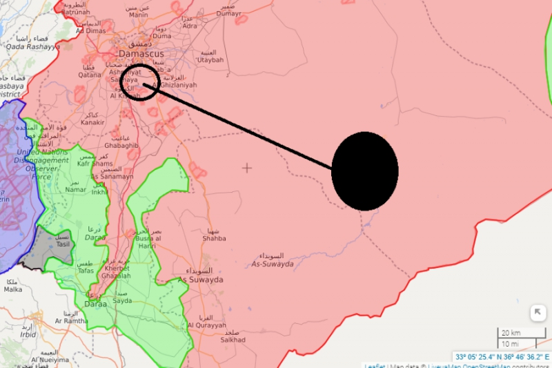 صورة نظام الأسد نقل عناصر تنظيم الدولة نحو السويداء..ثم قصفهم!