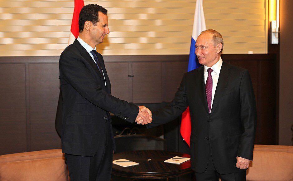 """صورة مجدداً..الأسد يزور سوتشي """"سراً"""""""