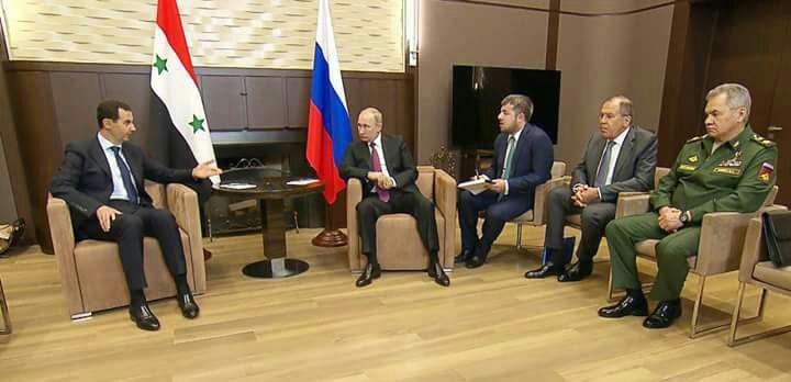 صورة طلب مفاجئ من بوتين لبشار الأسد..ما هو؟