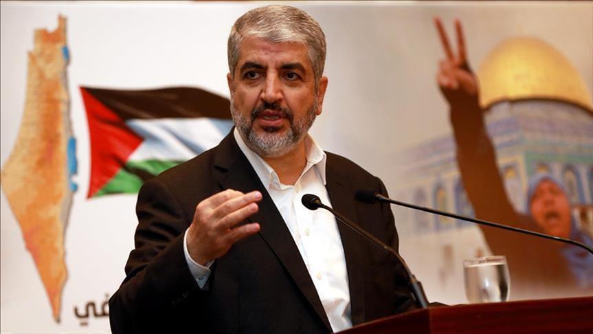 صورة مشعل يدعو العرب والمسلمين لدعم الشعب الفلسطيني