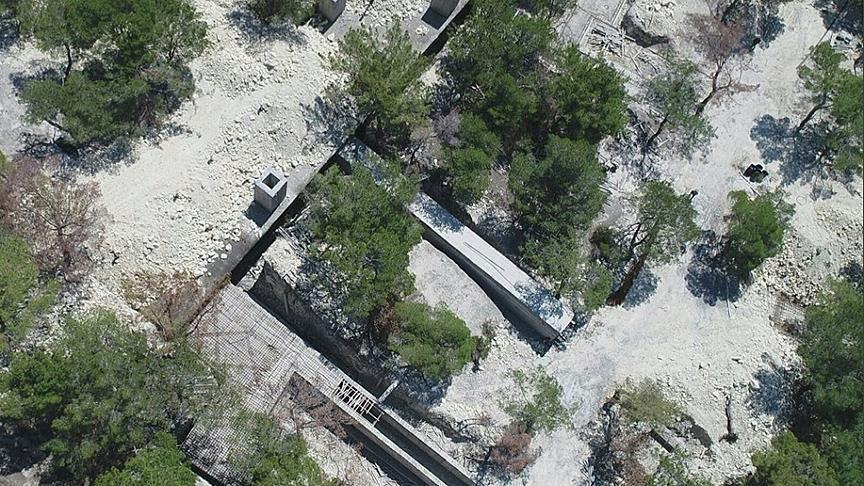 صورة الجيش التركي: عثرنا على معسكر للوحدات الكردية بعفرين