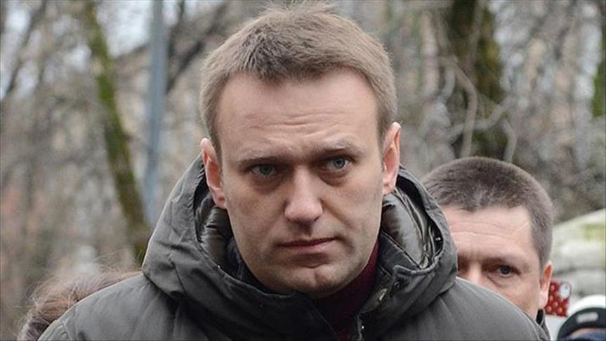 صورة اعتقال زعيم المعارضة الروسية خلال تظاهرات مناهضة لبوتين