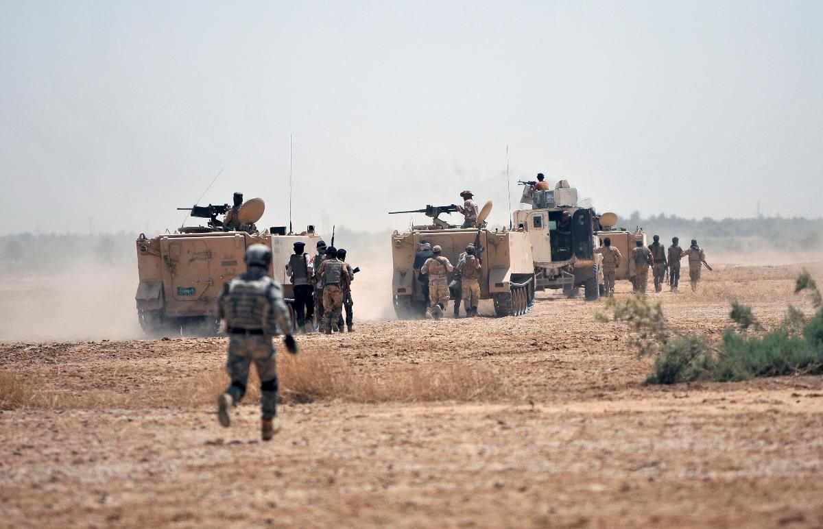 صورة قوة مشتركة تتسلم الحدود العراقية السورية