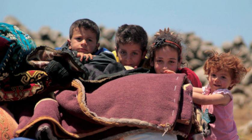 صورة الخوذ البيضاء: 150 ألف نازح جنوب سوريا