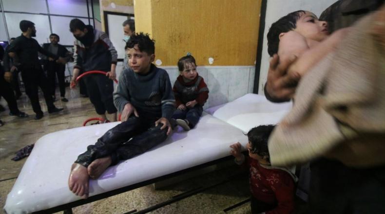 """صورة منظمة تؤكد استخدام """"السارين والكلور"""" بقصف اللطامنة"""