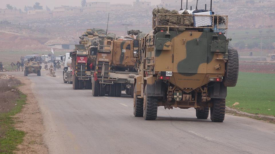 صورة رتل تركي لدعم نقاط المراقبة يدخل شمالي إدلب