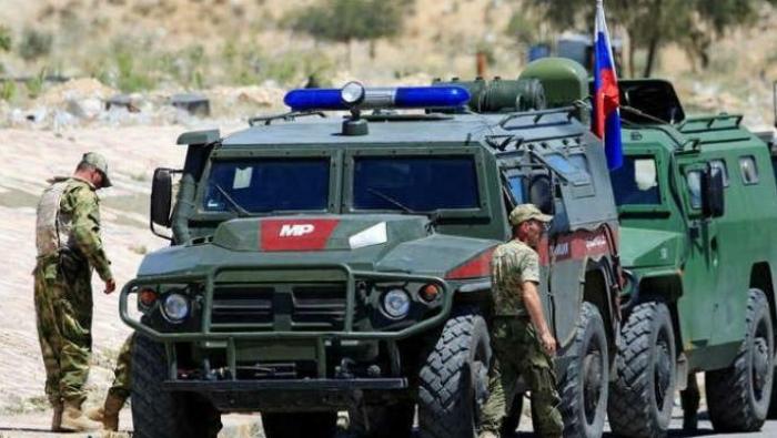 صورة قوات روسية تفصل كبرى مدن شمال حمص