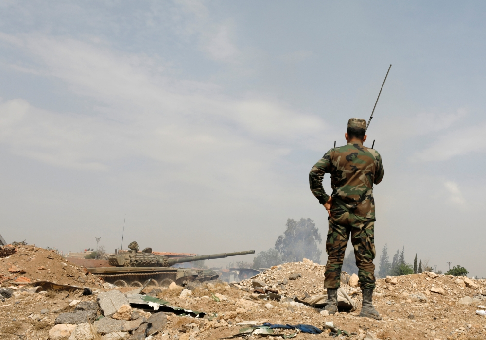 صورة نشاط كبير لعصابات السرقة في مخيم اليرموك