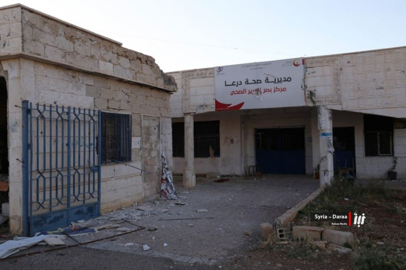 صورة تدمير 5 مشافي في درعا