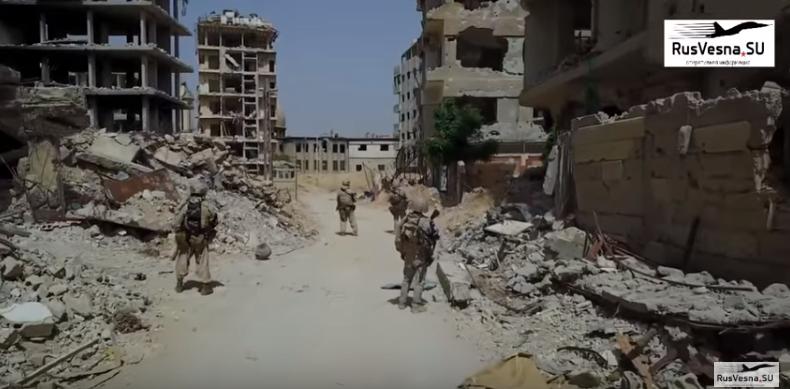 صورة دوريات روسية في الغوطة الشرقية- شاهد