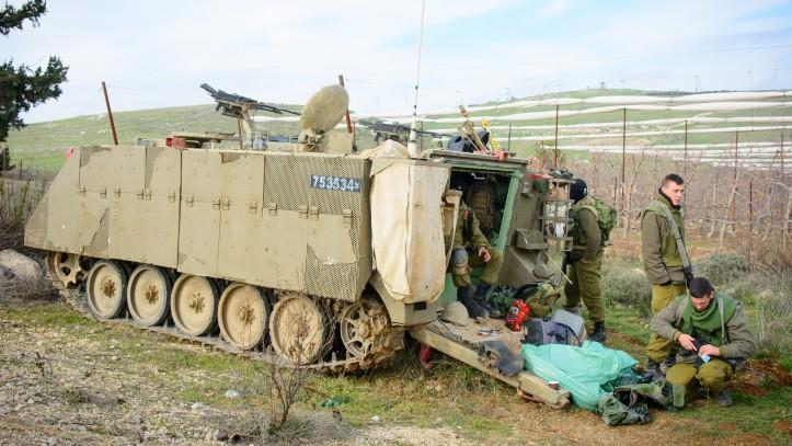 """صورة تدريب إسرائيلي مفاجئ في """"الجولان"""" المحتل"""