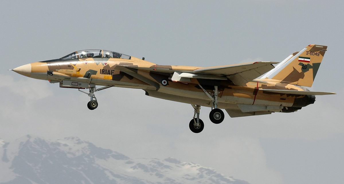 صورة تحطم مقاتلة حربية إيرانية وسط البلاد