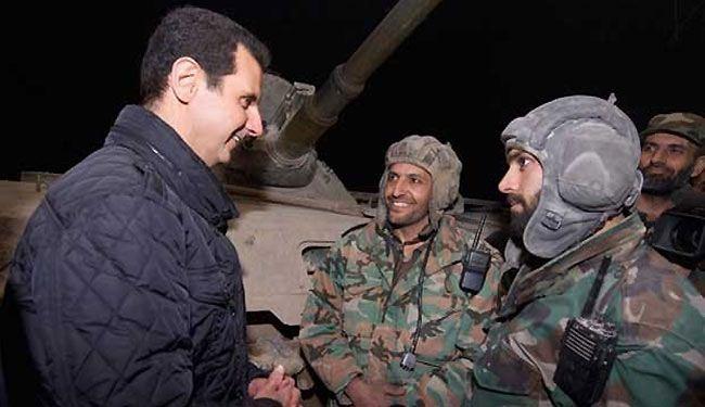 صورة الأسد يزيد رواتب عسكرييه بنسبة 30%