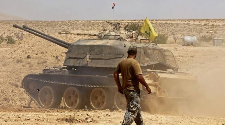 صورة انفجار ضخم يهز قاعدة لحزب الله بسوريا