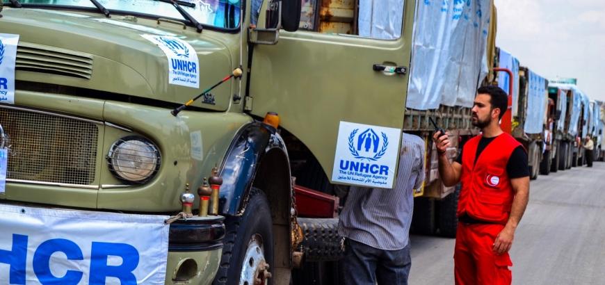 صورة الأمم المتحدة توقف مساعداتها للجنوب السوري