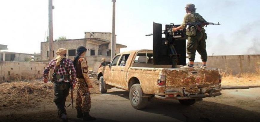 """صورة 9 قتلى وجرحى لـ""""تحرير الشام"""" بانفجار عبوة في إدلب"""