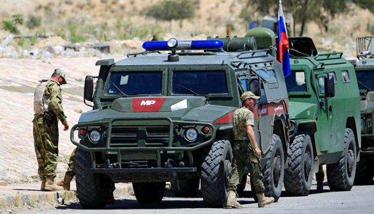 صورة قوات روسية تتدخل مهد الثورة السورية