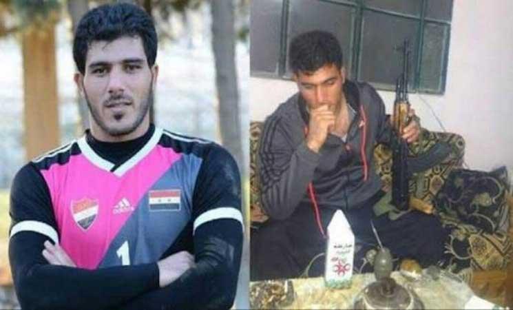 """صورة بعد جدل.. نادٍ سعودي يلغي عقد الحارس """"الشبيح"""" في مليشيات الأسد"""