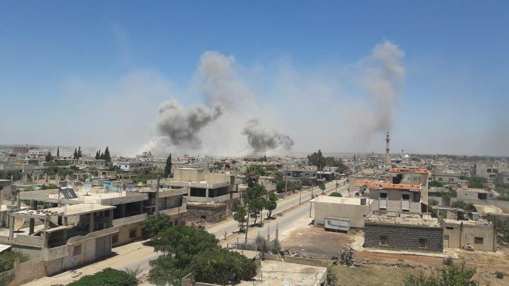 صورة روسيا تضغط عسكريا على درعا بعد تعثر المفاوضات
