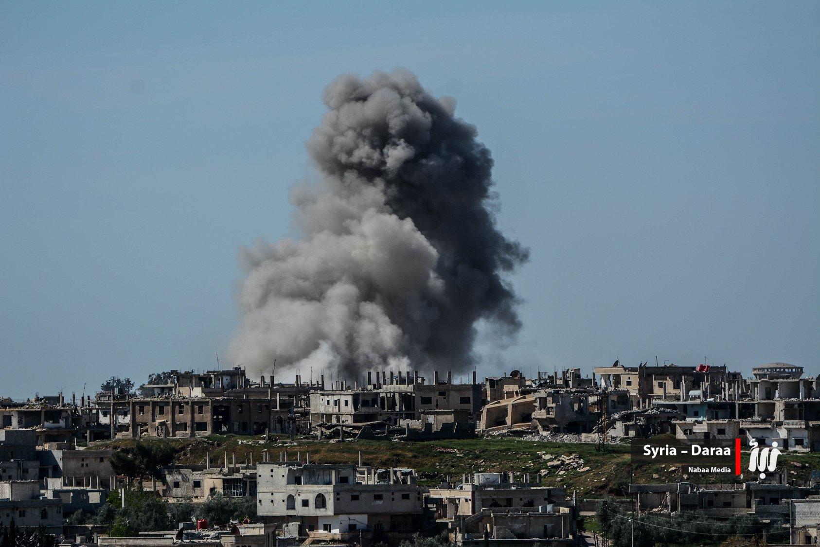 صورة طائرات الأسد تخرق الأجواء الأردنية..وغارة روسية داخل أراضي المملكة