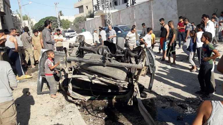 صورة انفجار سيارة مفخخة في جرابلس بحلب