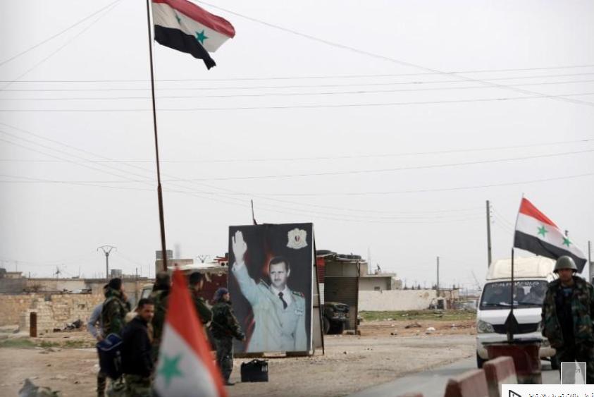 صورة أجزاء كبيرة من سوريا خارج سلطة الأسد