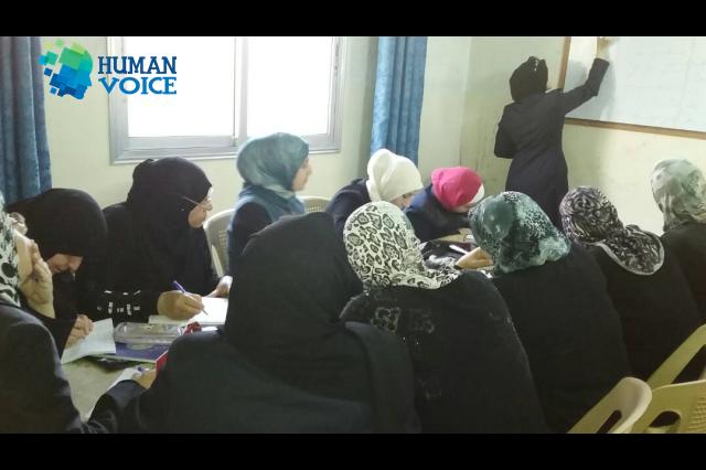 صورة جهود تمارس لإنقـاذ المرأة السورية من القيـود الخاطئـة