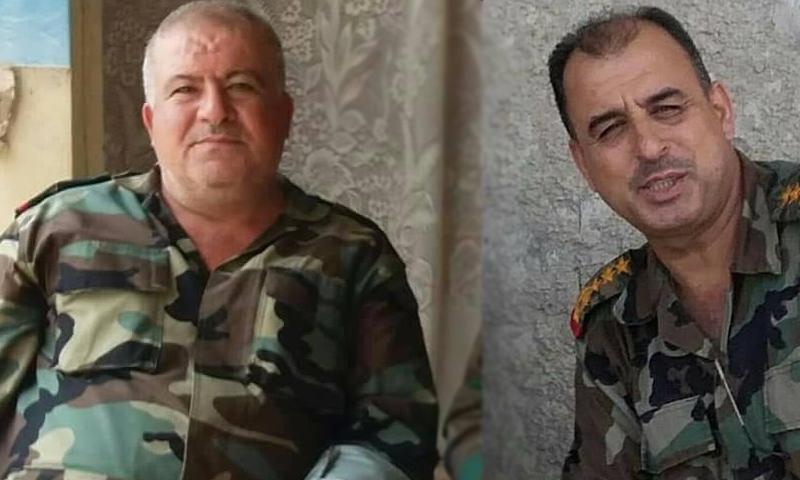 صورة مقتل ضابطين برتبة لواء في درعا