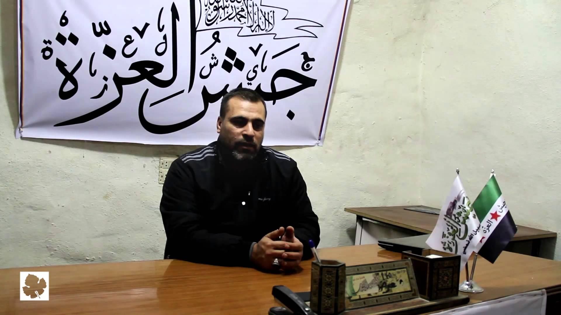 """صورة قائد """"جيش العزة"""": يكفي كذبًا على الناس بشأن إدلب"""