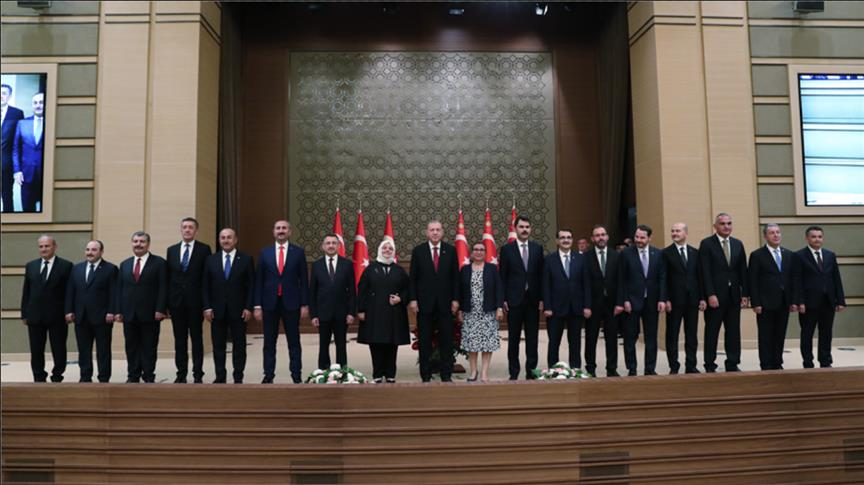 صورة تركيا تتنقل للنظام الرئاسي..وأردوغان يعلن تشكيلة حكومته