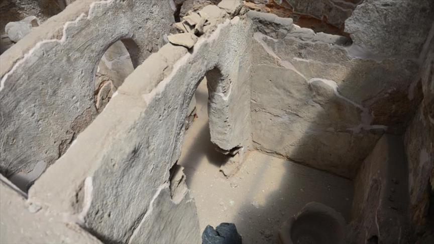 """صورة اكتشاف بيوت للخلاء من العهد الأموي في """"حران"""" التركية"""