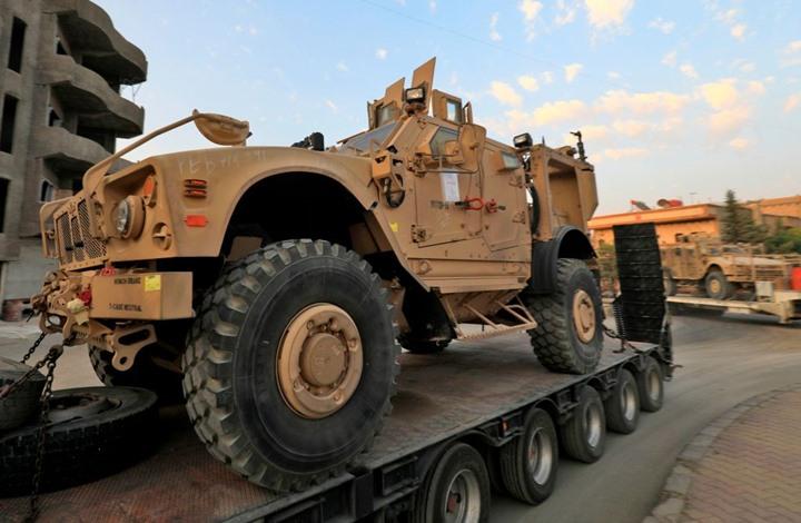 صورة واشنطن تنقل معدات عسكرية إلى منبج