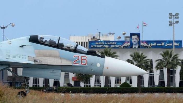 """صورة روسيا تسقط طائرة مسيرة قرب """"حميميم"""""""