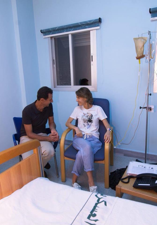 """صورة ما حقيقة إصابة زوجة """"الأسد"""" بسرطان الثدي؟"""