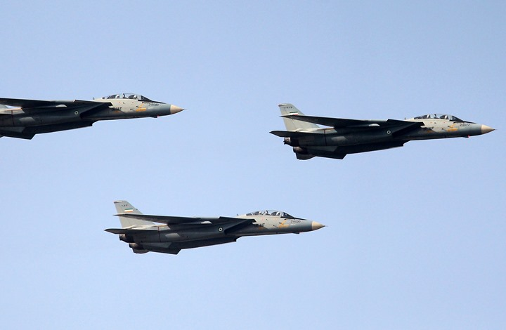 صورة مقاتلات أمريكية تحلق في سماء إيران- شاهد