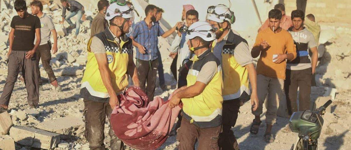 صورة 25 قتيلاً مدنياً في قصف ببراميل النظام شمالي سوريا