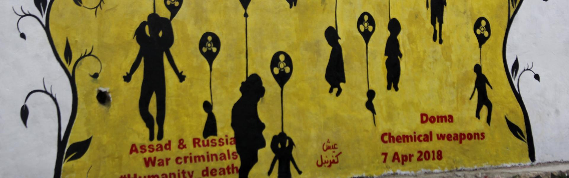 صورة النظام يحاول طمس جريمة الكيماوي في الغوطة