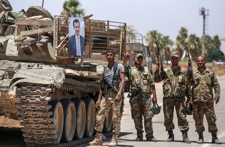 صورة نظام الأسد يعلق على عملية الاستخبارات التركية في اللاذقية