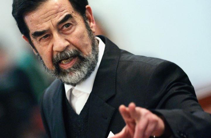صورة كشف اللثام عن رسالة مثيرة من صدام بسجنه