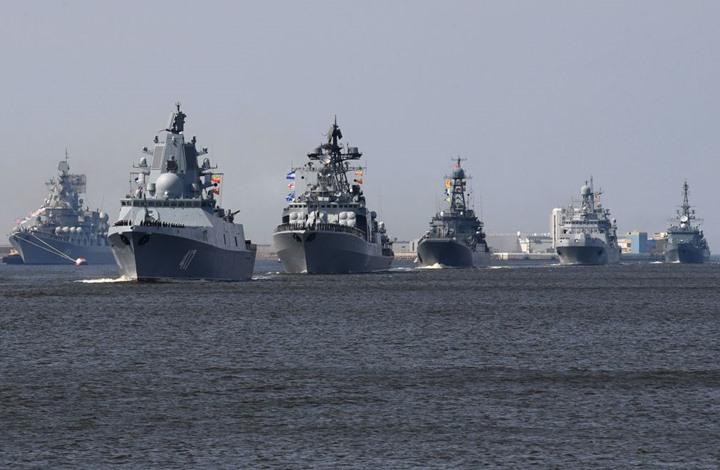 صورة سفن روسيا بالمتوسط تهدد الصواريخ الأمريكية