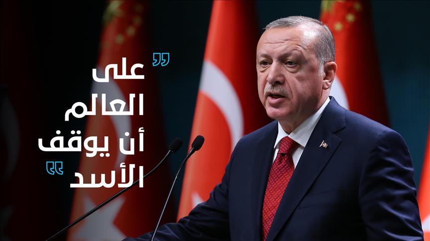 صورة أردوغان: على العالم أن يوقف الأسد