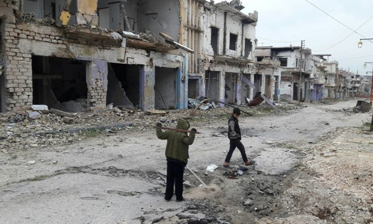 صورة مقتل طفلين ذبحاً بالسكاكين في ريف حمص