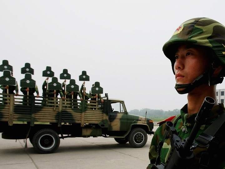 صورة أول ظهور علني للجيش الصيني في سوريا