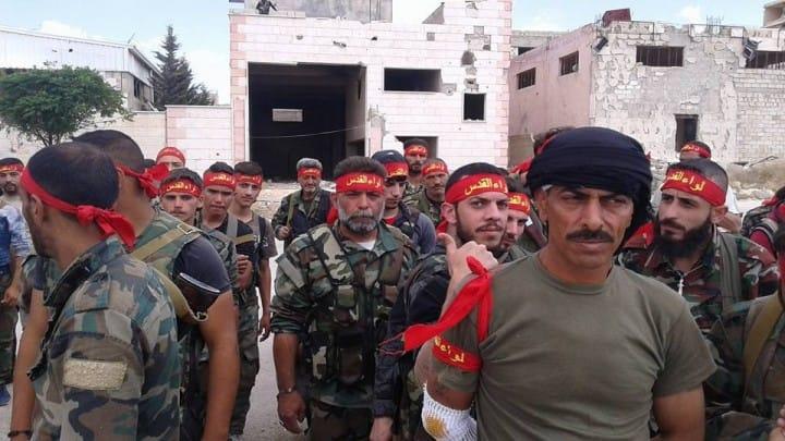 صورة ميليشيا فلسطينية تُجند شباب الغوطة
