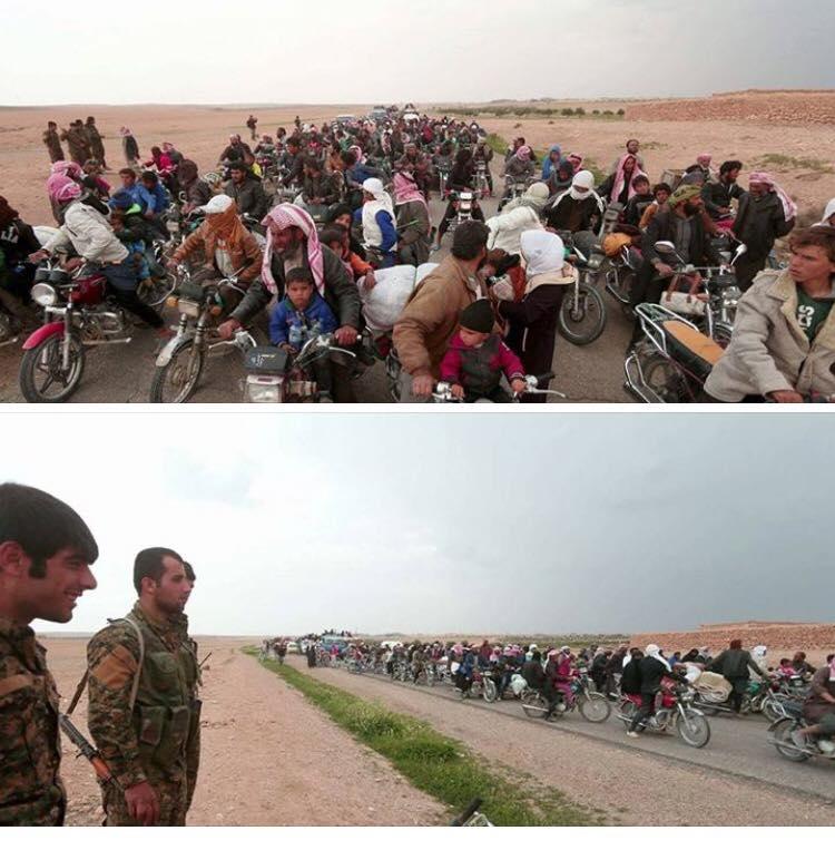 صورة دير الزور..نزوح عشرات العائلات